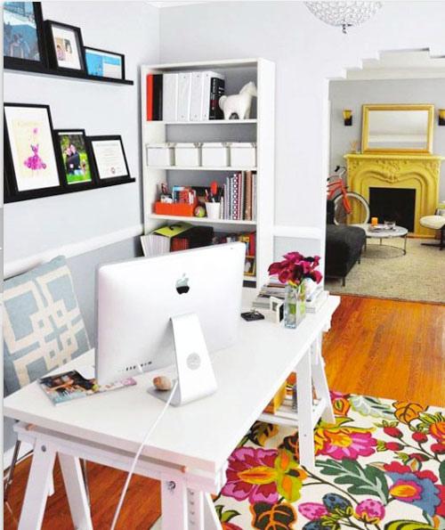 alışma-Köşesi-Masa-Mobilyası Evlerde Çalışma Köşesi Mobilyaları