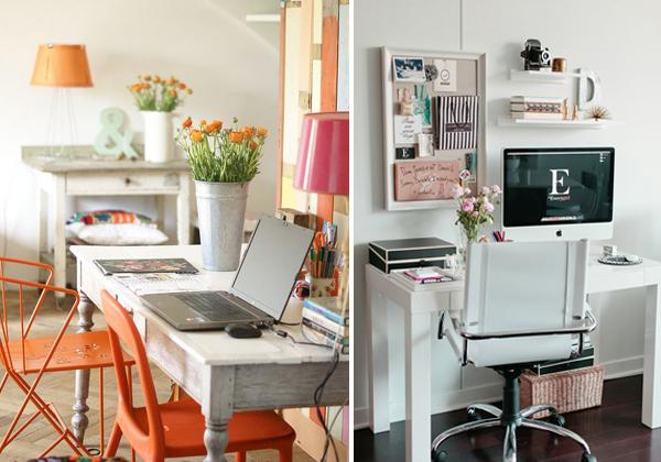 alışma-Köşesi-Mobilya-Örnekleri Evlerde Çalışma Köşesi Mobilyaları