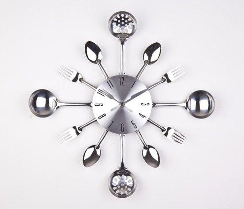 atal-Bıçak-Kaşık-Mutfak-Saati Modern Mutfak Saati Modelleri