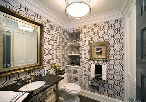 izgili-Banyo-Duvar-Kağıdı-Tasarımı Banyo Duvar Kağıdı Modelleri
