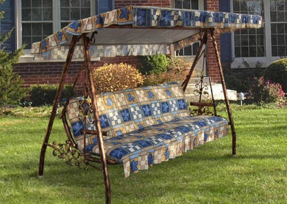 rtülü-Bahçe-Salıncak-Tasarımı Bahçeler Tenteli Salıncak Modelleri