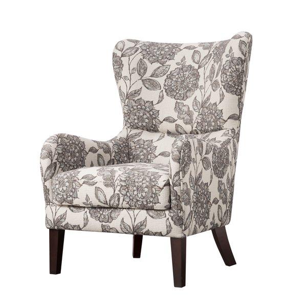 çiçekli kanatlı sandalye