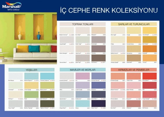 İç Cephe Marshall Boya Renk Kataloğu 2013