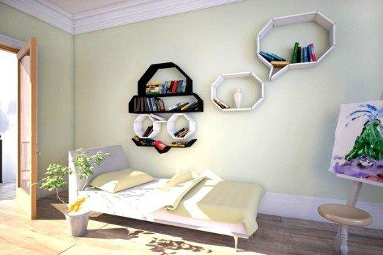 lginç-Duvar-Raf-Çeşidi İlginç Raf Tasarımları