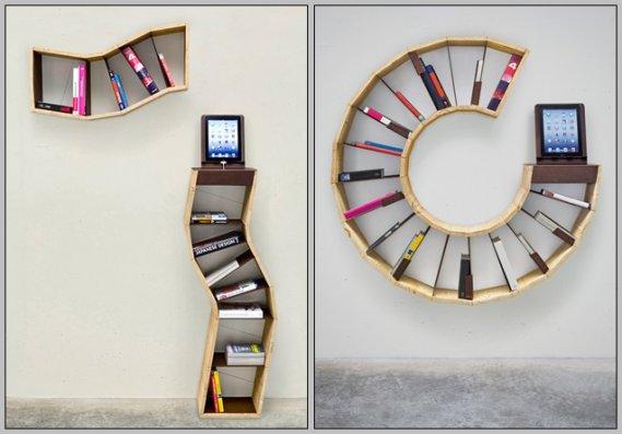 lginç-Kitaplık-Raf-Tasarımı İlginç Raf Tasarımları