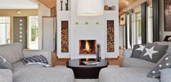 Şömineler İçin Odun Depolama Çözümleri Fikirleri