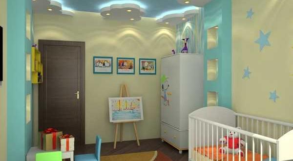 k-Çocuk-Odası-Asma-Tavan-Modeli Genç Odası Asma Tavan Modelleri