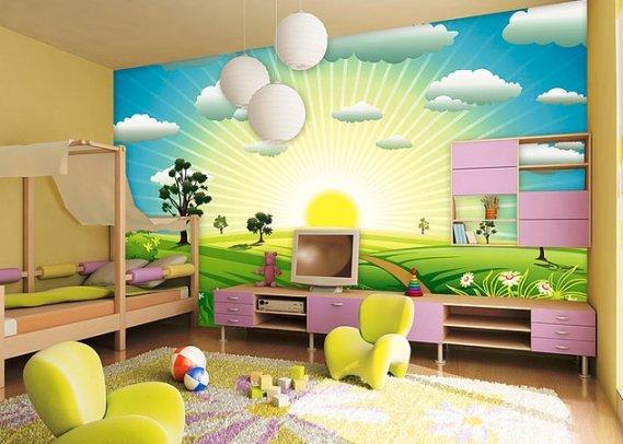 Şık Çocuk Odası Duvar Kağıdı