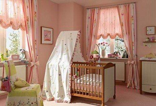 k-Bebek-Odası-Perde-Tasarımı Bebek Odası Perde Modelleri