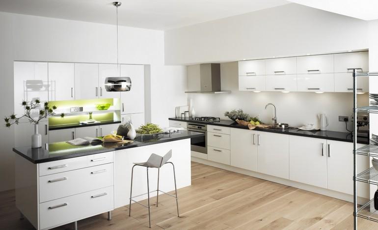 Chic En Çok Tercih Edilen Beyaz beyaz mutfak dekorasyonu