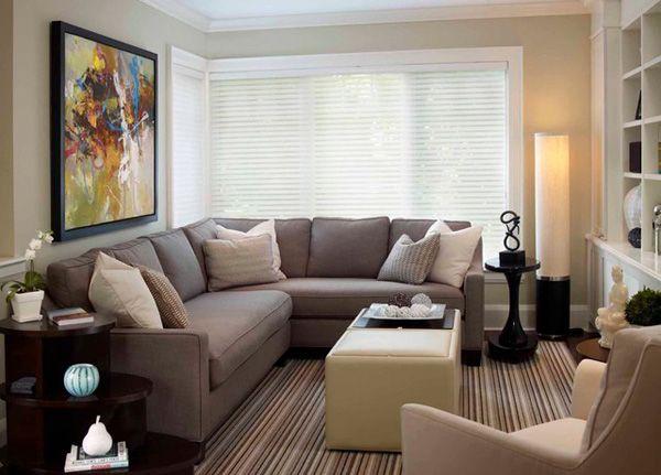 Chic Küçük oturma odaları için dekorasyon Küçük misafir odaları için dekorasyon