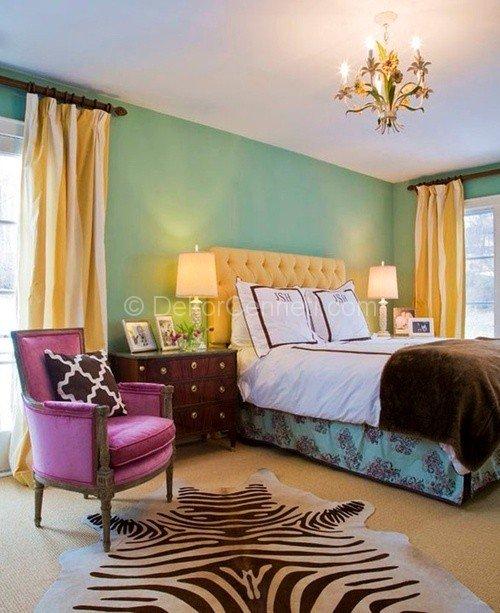 new-ev-dekorasyonunda-mor-ve-turkuazin-ev-dekorasyonunda-renk-kullanimi-16 ev dekorasyonunda renk kullanımı