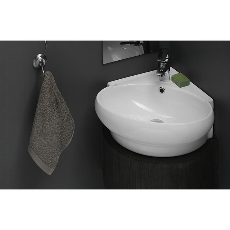 stylish-45x45-mini-kose-lavabo-45x45-mini-lavabo-tasarimlari-8 Küçük Banyolar İçin Büyüleyici Mini Lavabo Tasarımları