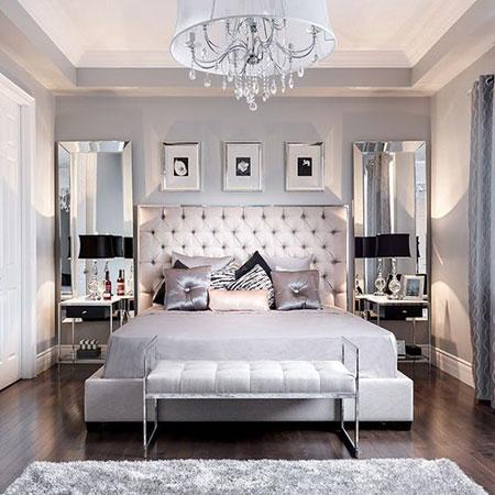 Master Gri bir yatak odası dekorasyonu yatak odası dekorasyonu