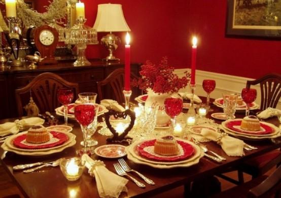 Awesome sevgililer günü Romantik sevgililer günü  masa dekor ayarları