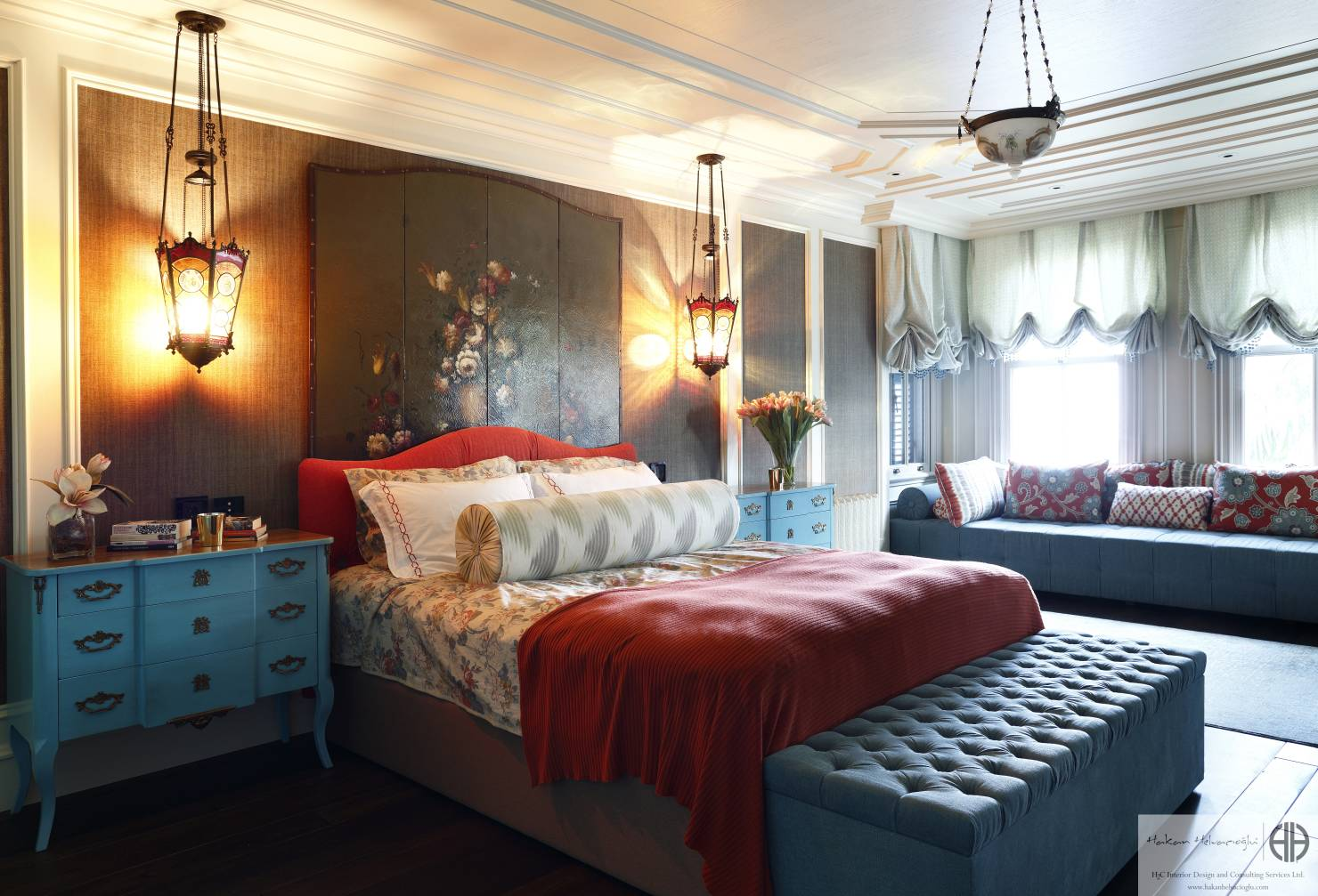 elegant-yatak-odanizin-dekorunda-renk-nasil-kullanilir-20 Yatak odanızın dekorunda renk nasıl kullanılır