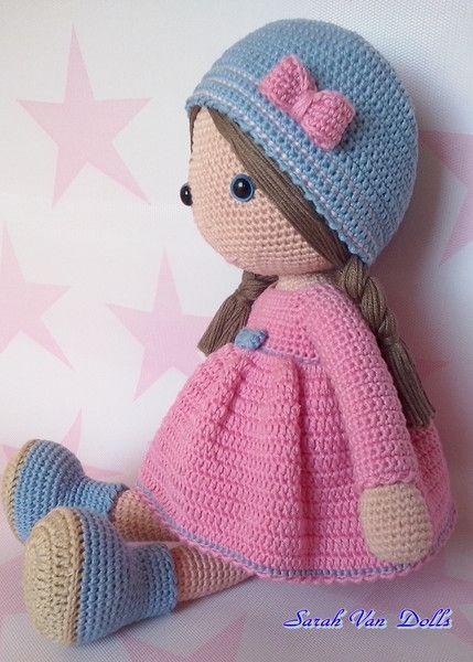 Amazing  Amigurumi Tığ işi Doll Sara Ücretsiz Desen