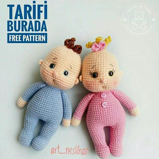 amazing-amigurumi-tig-isi-doll-sara-ucretsiz-desen-9 Amigurumi Tığ işi Doll Sara Ücretsiz Desen