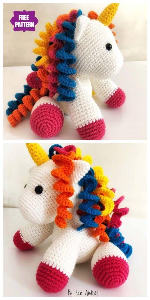 Elegant  Amigurumi Crochet Baby Unicorn Ücretsiz Desen