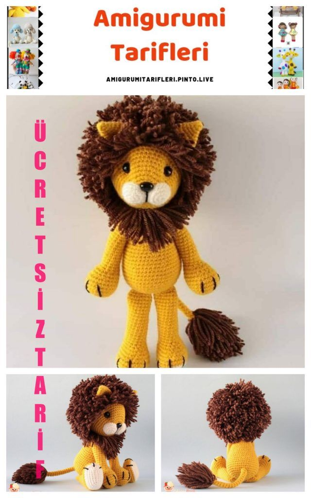 beautiful-amigurumi-krose-aslan-ucretsiz-desen-8 Amigurumi kroşe aslan ücretsiz desen