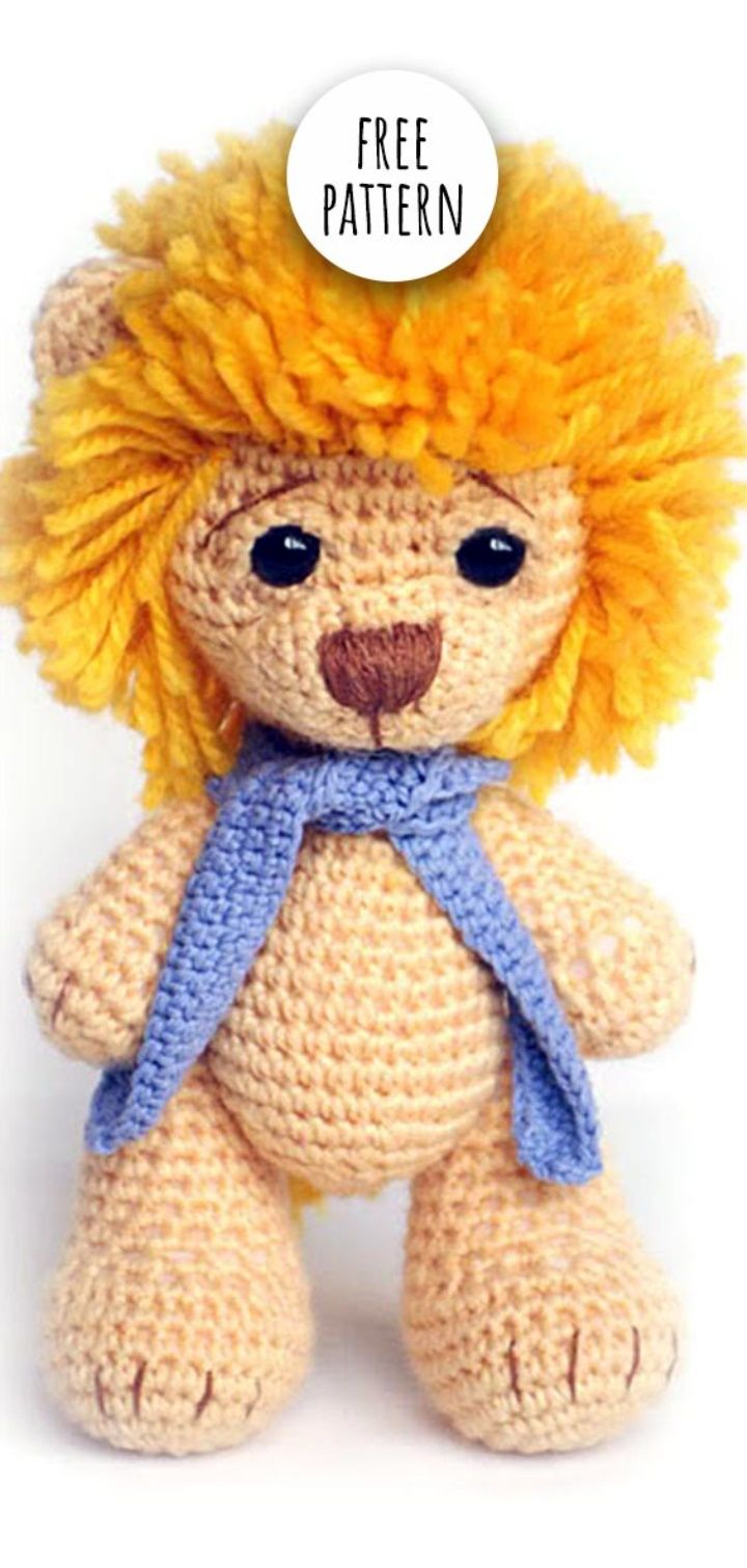 cool-amigurumi-krose-aslan-ucretsiz-desen-6 Amigurumi kroşe aslan ücretsiz desen