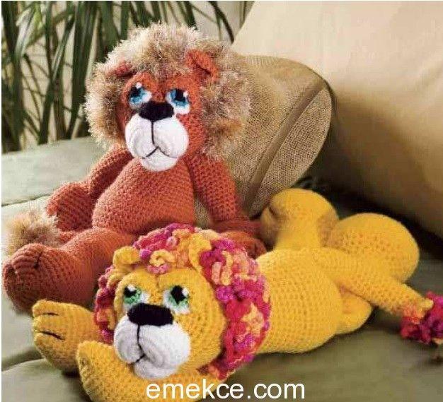 cute-amigurumi-krose-aslan-ucretsiz-desen-10 Amigurumi kroşe aslan ücretsiz desen
