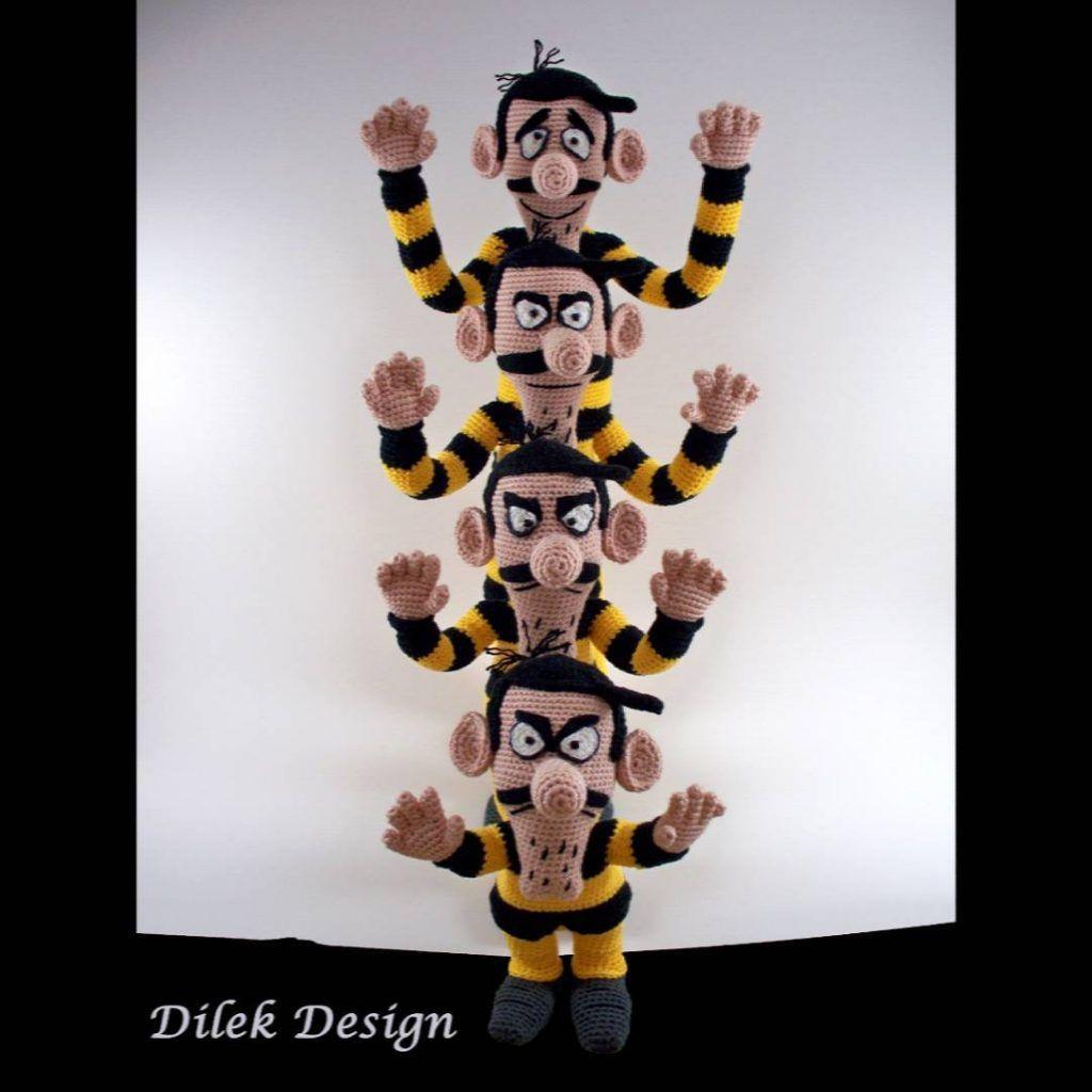modern-dalton-kardesler-amigurumi-tig-desen-9 Dalton Kardeşler Amigurumi Tığ Desen