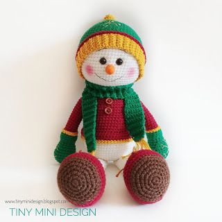 -amigurumi-kucuk-ve-sevimli-kardan-adam-16 Amigurumi Küçük ve Sevimli Kardan Adam