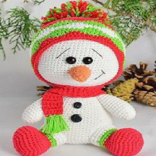 -amigurumi-kucuk-ve-sevimli-kardan-adam-4 Amigurumi Küçük ve Sevimli Kardan Adam