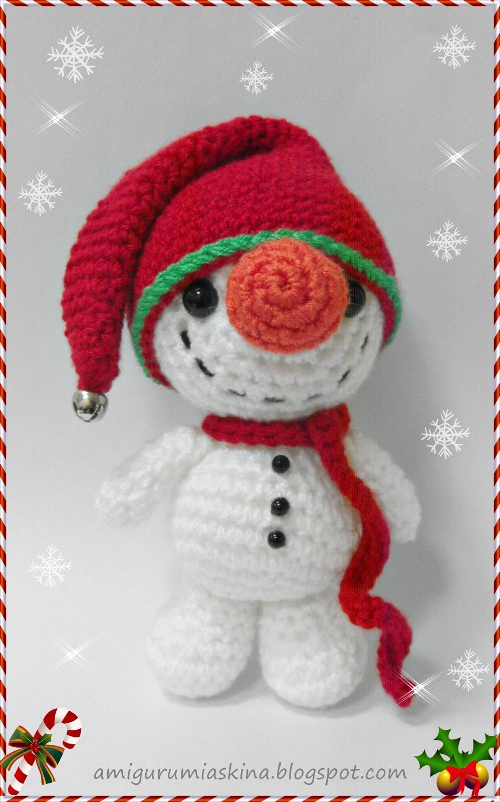 -amigurumi-kucuk-ve-sevimli-kardan-adam-6 Amigurumi Küçük ve Sevimli Kardan Adam