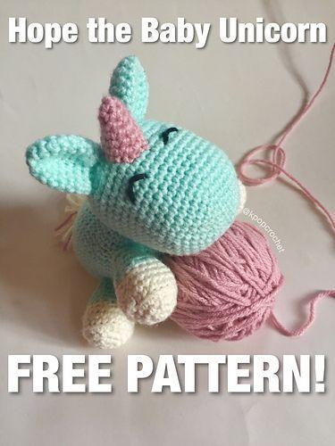 Amigurumi Bebek Unicorn Ücretsiz Desen