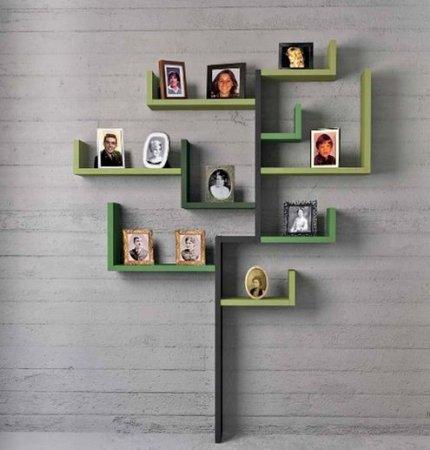 Ağaç-Şekilli-İlginç-Raf İlginç Raf Tasarımları