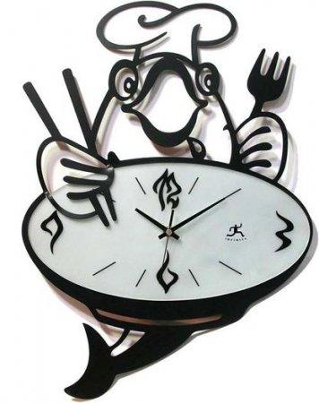 Aşçılı-Modern-Mutfak-Saati Modern Mutfak Saati Modelleri