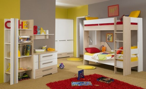 Ahşap-ikili-ranza-tasarımı Ranzalı Çocuk ve Genç Odası Takımları