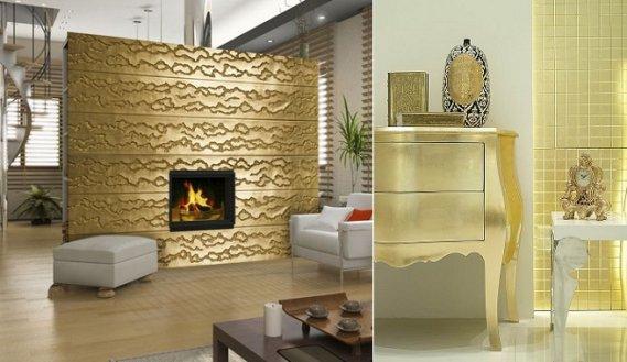 Altın-Rengi-Aksesuarlarla-Dekorasyon Altın Rengi ile Yaratabileceğiniz Dekoratiflikler