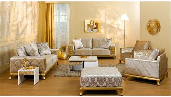 Altın-Renkli-Oturma-Grubu Altın Rengi ile Yaratabileceğiniz Dekoratiflikler
