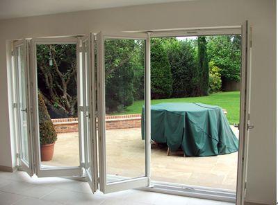 Aluminyum-Katlanır-Bahçe-Kapısı-Modeli Katlanır Kapı Modelleri