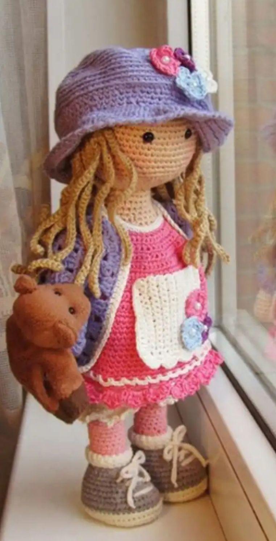 Amigurumi-Sweet-Doll-Ücretsiz-Desen-Kroşe-15 Amigurumi Sweet Doll Ücretsiz Desen Kroşe