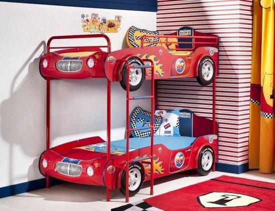 Araba-Modelli-İki-Katlı-Ranza-Tasarımı İki Katlı Ranza Modelleri