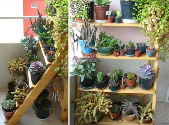 Balkon-İçin-Çiçeklik-Rafları Balkon Raf Sistemleri