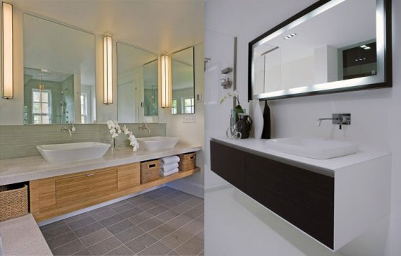 Banyo büyük banyo aynaları