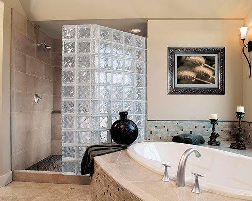Banyo-cam-tuğla-dekorasyonu Cam Tuğla Modelleri