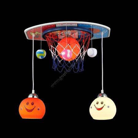Basketbol-Toplu-Bebek-Odası-Aydınlatma-Avizesi Bebek Odası Avizeleri