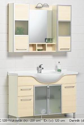 Bauhaus-banyo-boy-dolabı Bauhaus Banyo Dolabı Modelleri