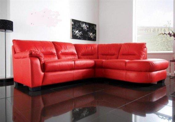 Bellona-Kırmızı-Deri-Koltuk-Takımı Kırmızı Köşe Takımları
