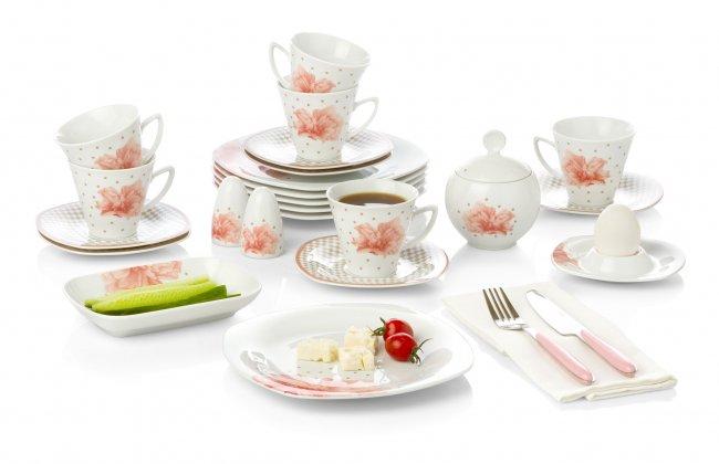 Bernardo Soft Light Porselen Kahvaltı Takımı