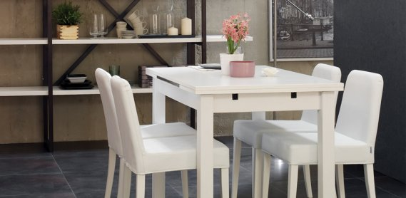Beyaz Doğtaş Mutfak Masa Sandalye Tasarımı