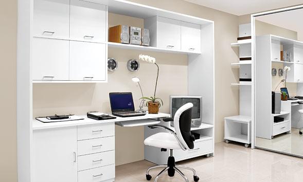 Beyaz-Home-Ofis-Mobilya-Örneği Home Ofis Mobilya Modelleri Örnekleri