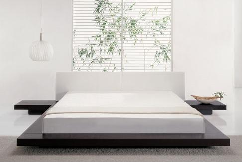 Beyaz-Japon-Tarzı-Yatak-Odası-Modeli Japon Tarzı Yatak Odaları