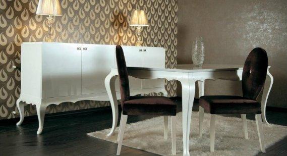 Beyaz-Kervan-Yemek-Odası-Takımı Kervan Mobilya Yemek Odaları